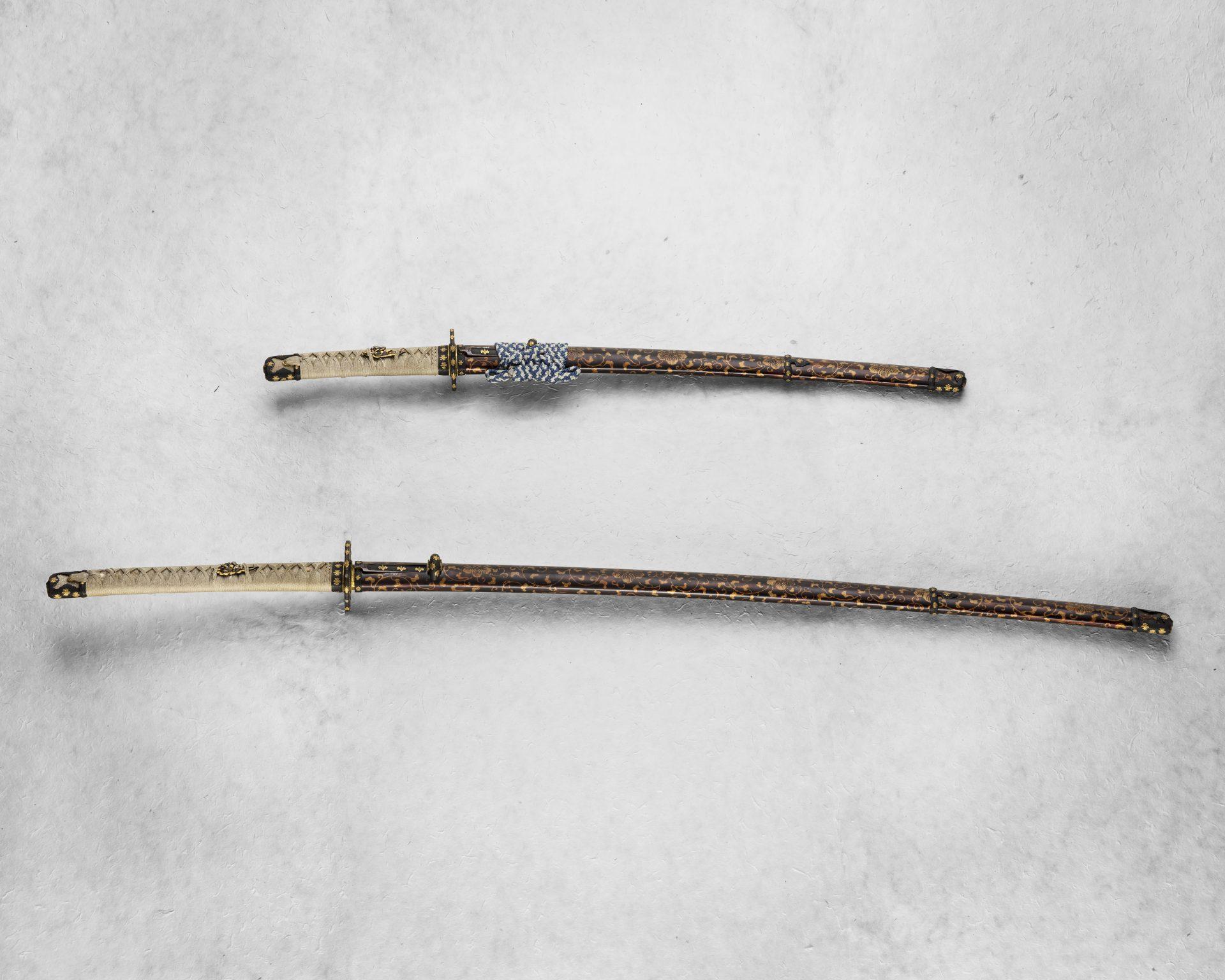 Two swords, one shorter, one longer.