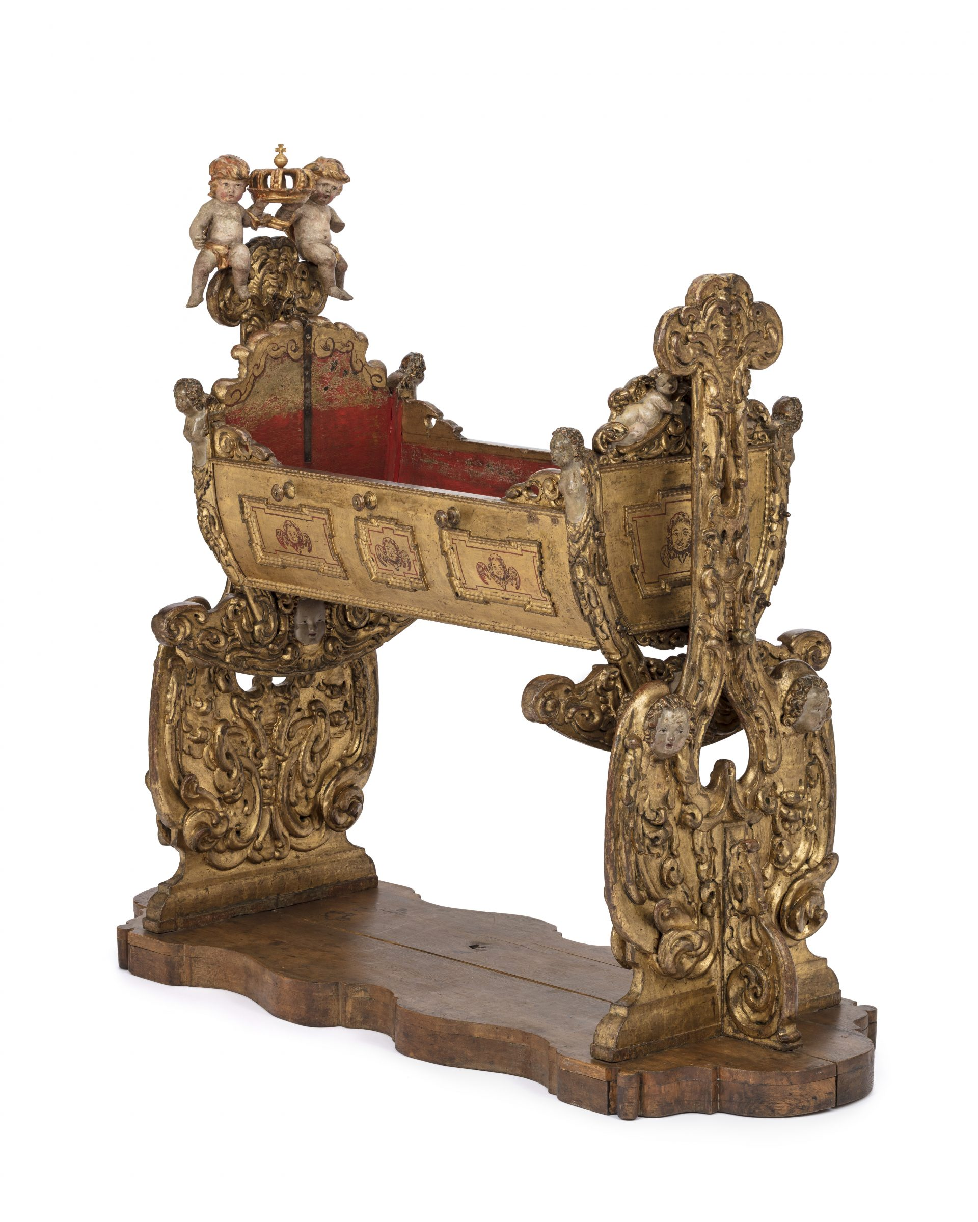 A golden cradle.