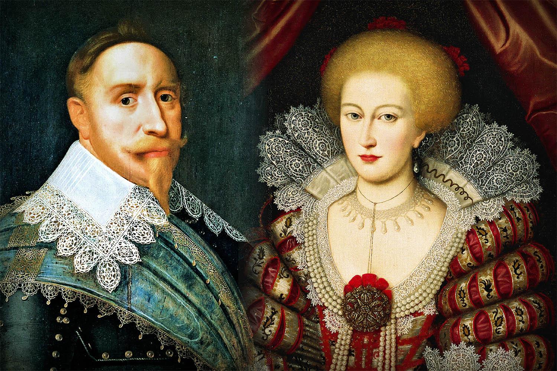 Gustav II Adolf och MAria Elenora