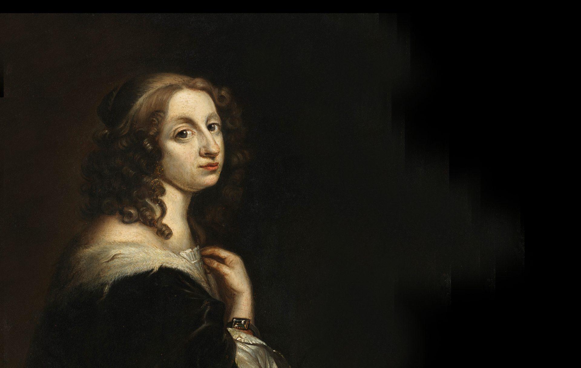 Porträtt av Drottning Kristina.