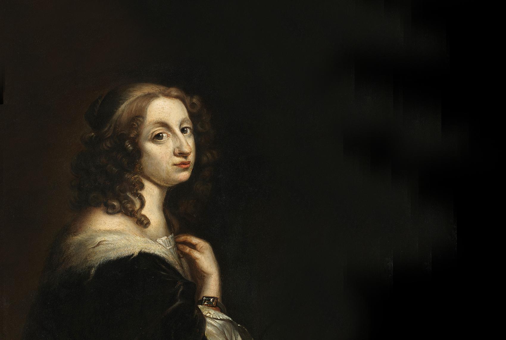 Portrait of Christina, Queen of Sweden.