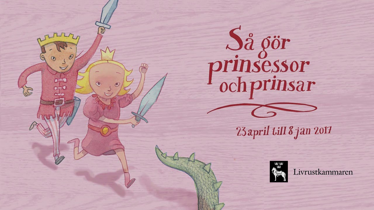 A happy princess with a sword and a happy prince.
