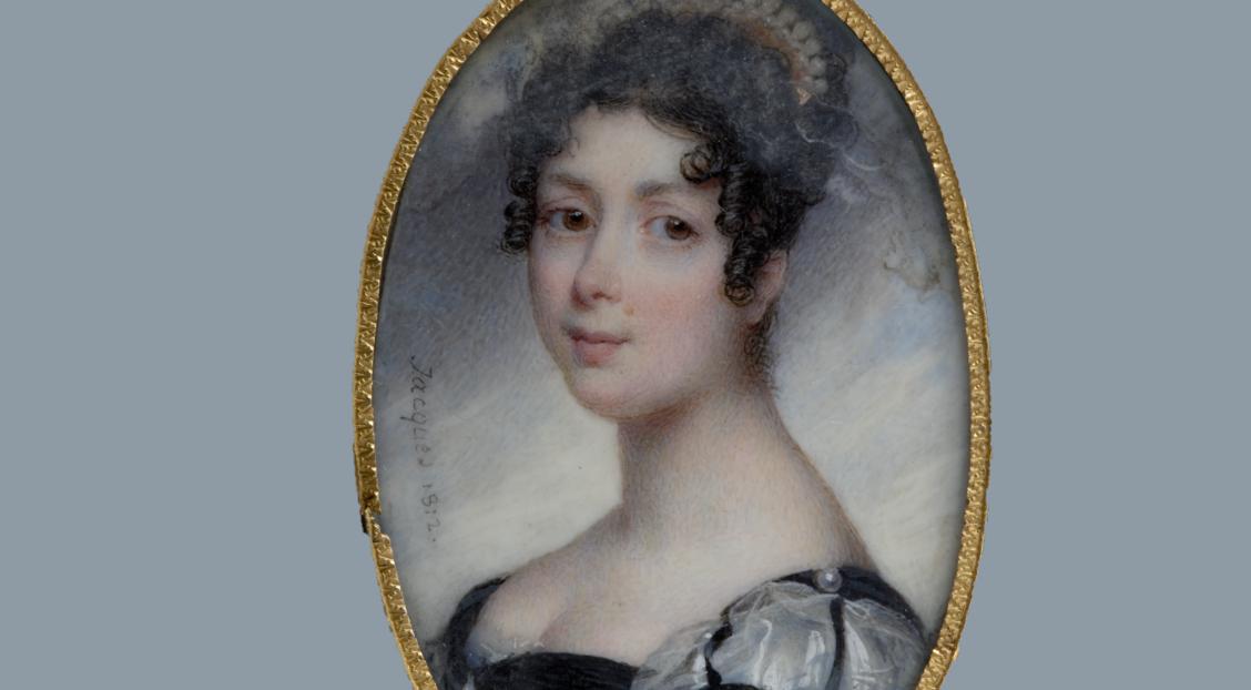 Porträtt på Drottning Desideria.