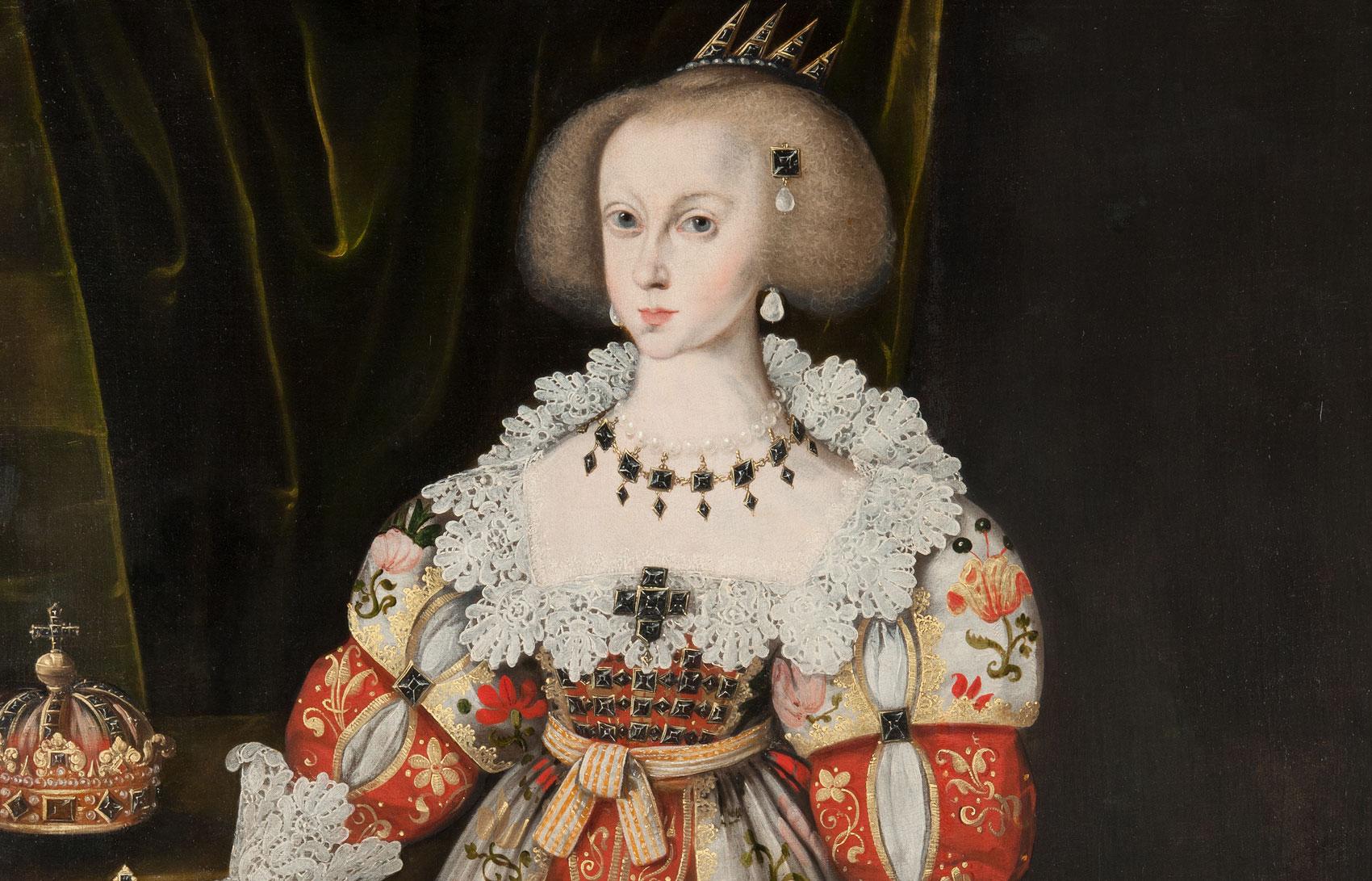 Porträtt av drottning Kristina som barn.